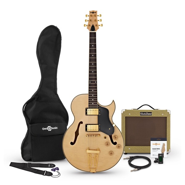 San Diego Semi-Hollow Electric Guitar by Gear4music, Group