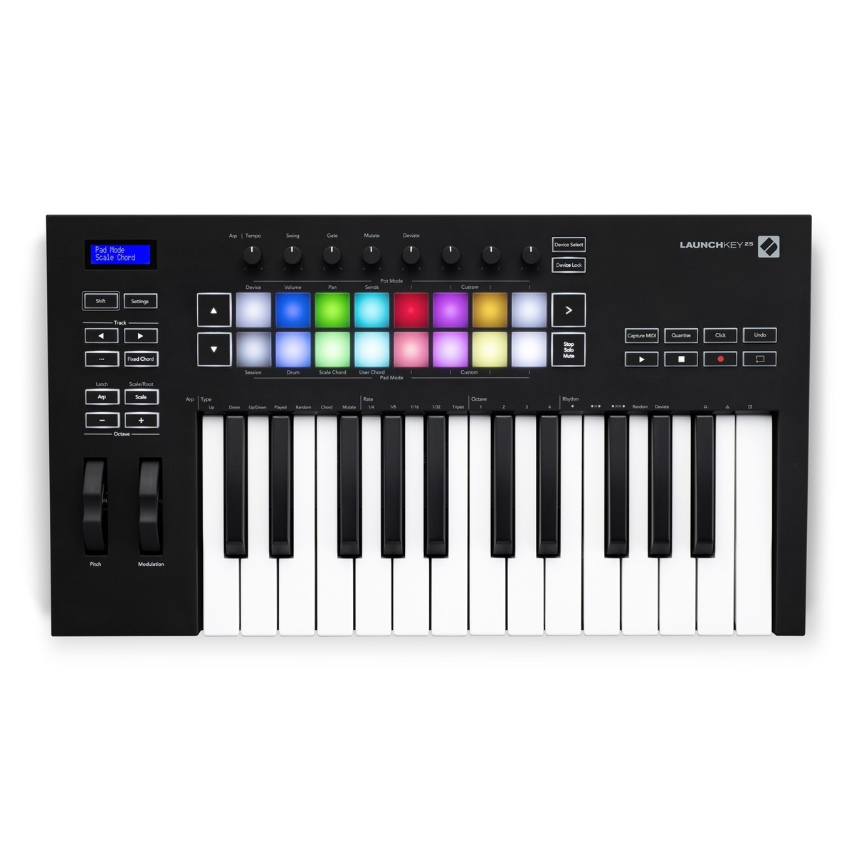 Click to view product details and reviews for Novation Launchkey 25 Mk3.