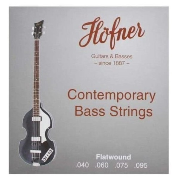 Hofner HCT Violin Bass Strings Flat Wound, 40-95