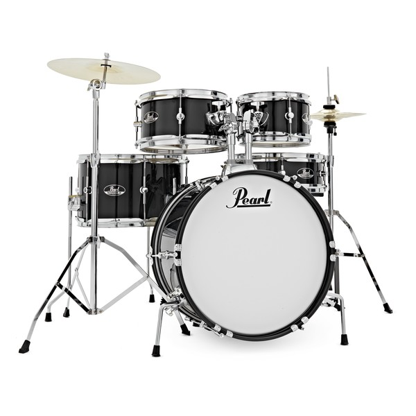 Pearl Roadshow Junior 5pc Complete Drum Kit, Jet Black