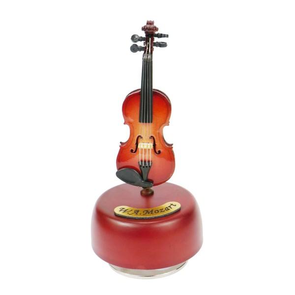 Agifty ''A Little Night Music'' Violin Music Box, 12cm