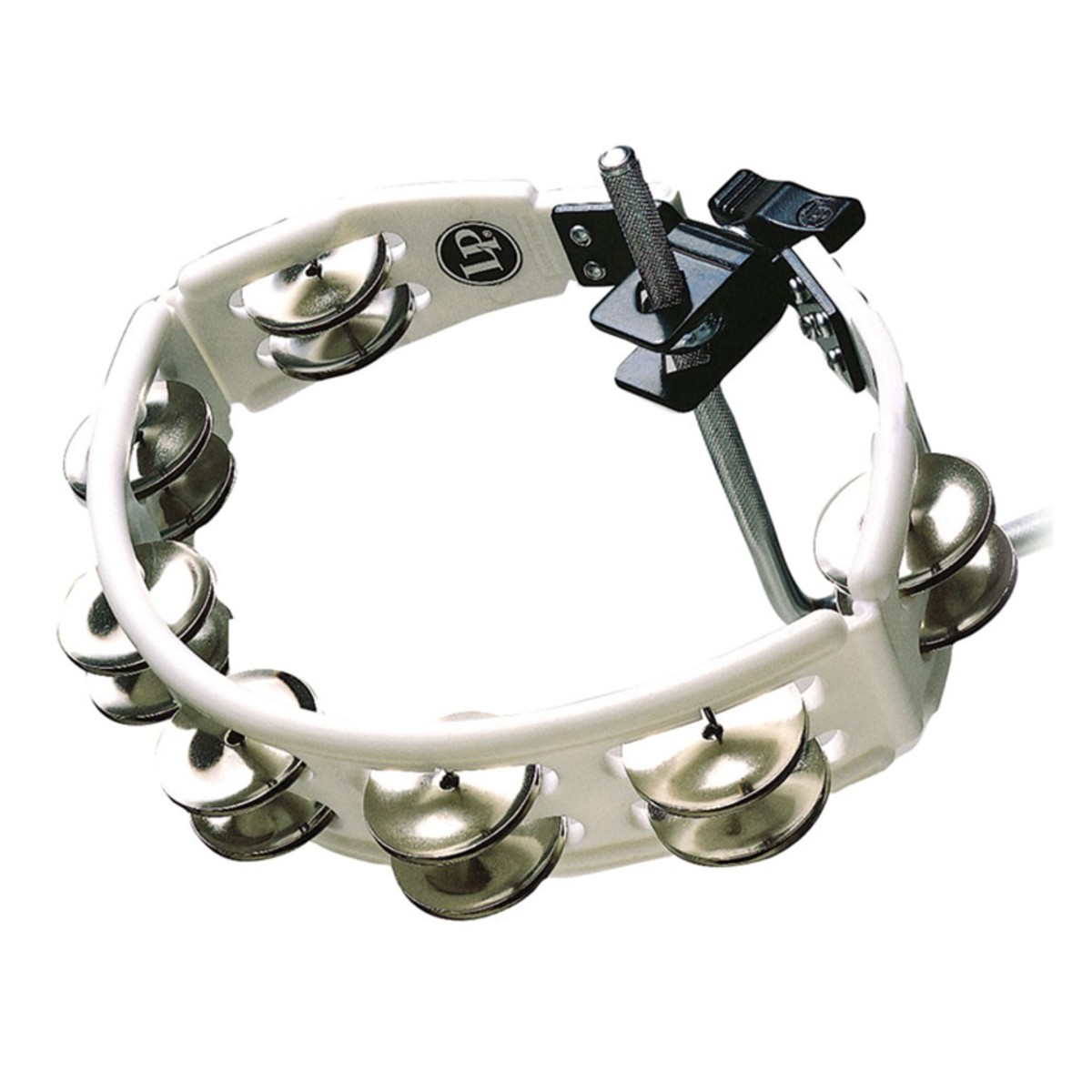 Click to view product details and reviews for Lp White Cyclops Tambourine Steel Jingles.