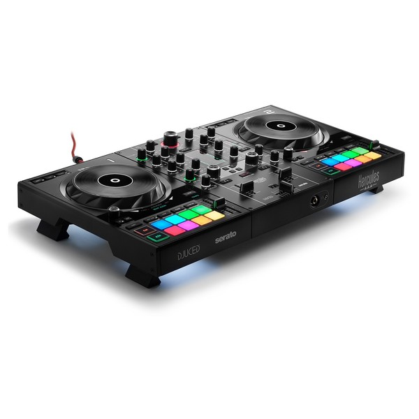 and Essential Cables Dynamic Microphone Hercules DJControl Inpulse 500 DJ Software Controller with Pro DJ Headphones
