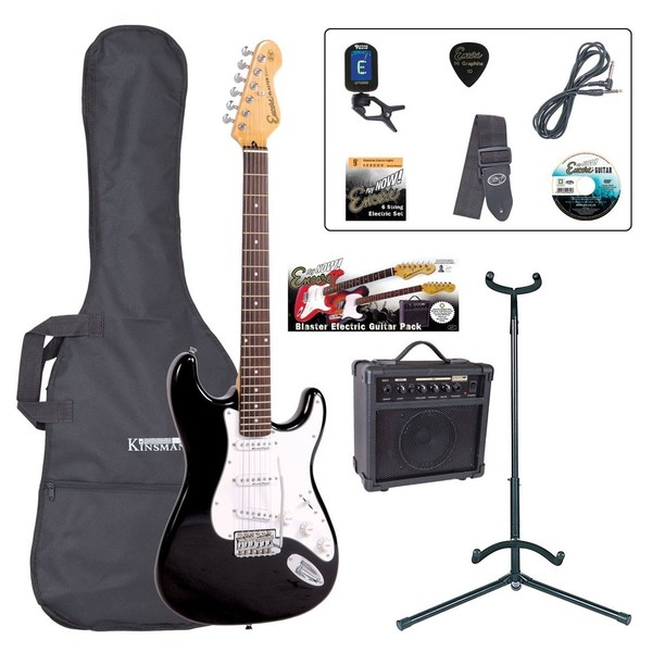 Encore E6 Electric Guitar Outfit, Black - main