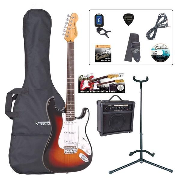 Encore E6 Electric Guitar Outfit, Sunburst - main