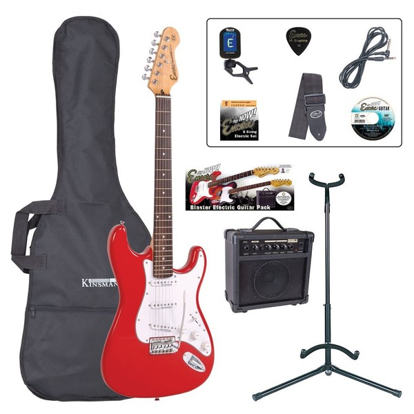 Encore E6 Electric Guitar Outfit, Red - main