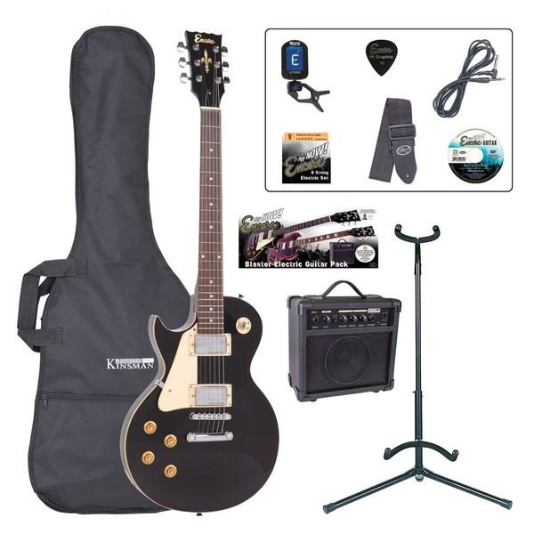 Encore E99 Left Hand Electric Guitar Outfit, Black - main
