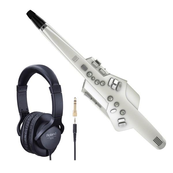 Roland AE-10 Aerophone Digital Wind Instrument Headphone Bundle
