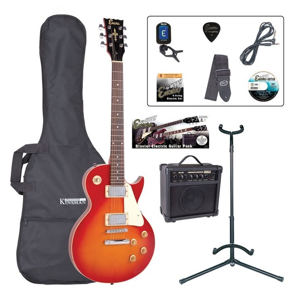 Encore E99 Electric Guitar Outfit, Cherry Sunburst - main