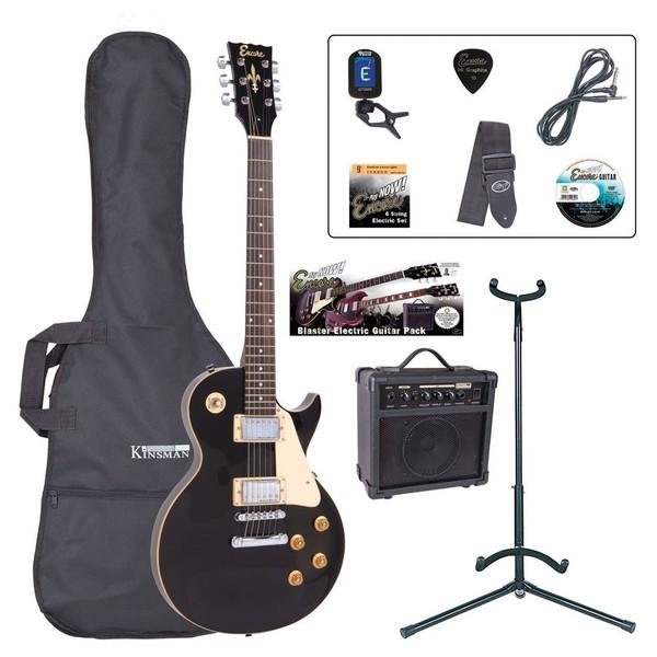 Encore E99 Electric Guitar Outfit, Black - main