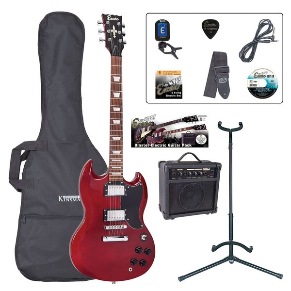 Encore E69 Electric Guitar Outfit, Cherry Red - main