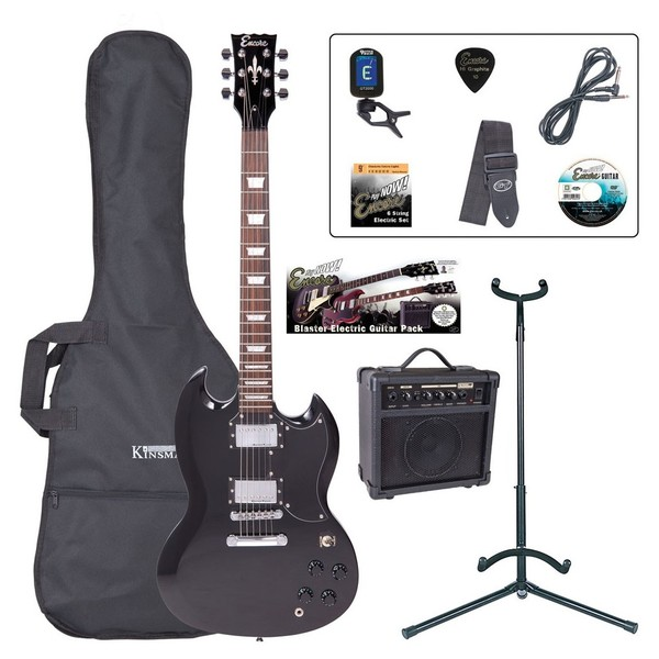 Encore E69 Electric Guitar Outfit, Black - main