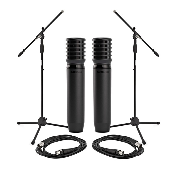 Shure PGA81 Condenser Pair with Stands and Cables - Full Package