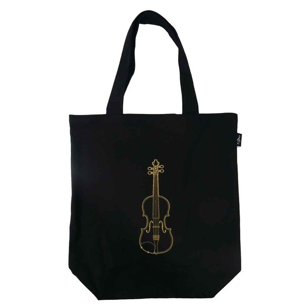 Agifty Violin City Shopper, Black and Gold