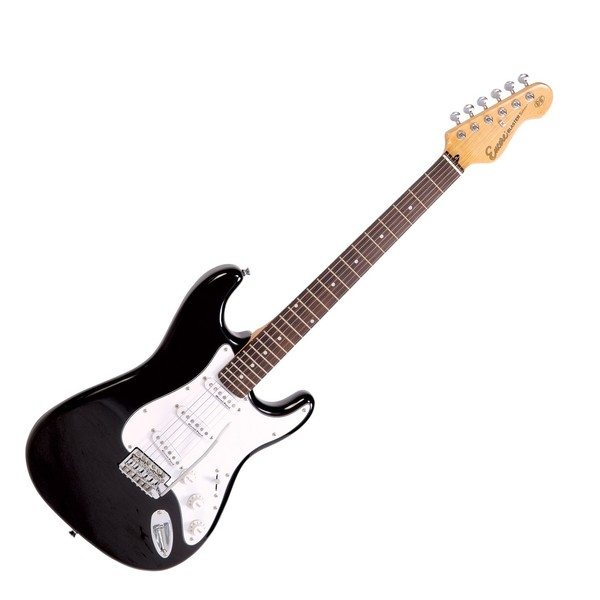 Encore E6 Electric Guitar, Black - main