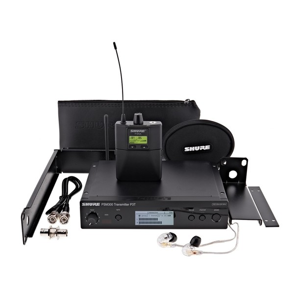 Shure PSM300 Wireless Monitor System with SE215 Earphones, S8