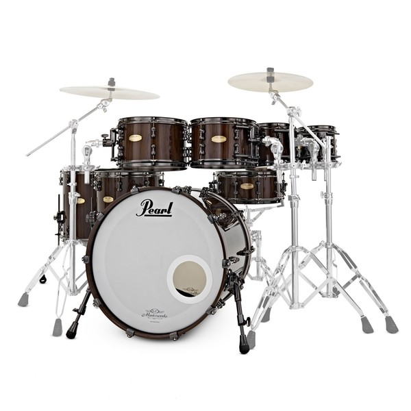 Pearl Masterworks 22'' 8pc Shell Pack, Black Mist Over Zebrawood