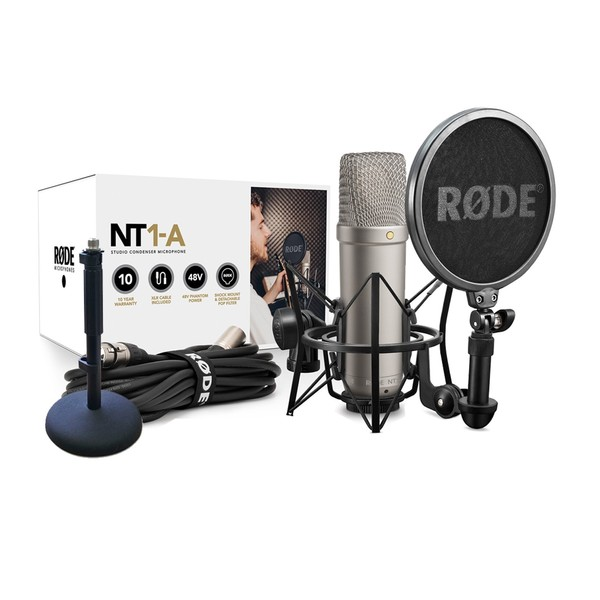 Rode NT1-A Vocal Recording Pack with Rode DS1 Desktop Stand - Full Package