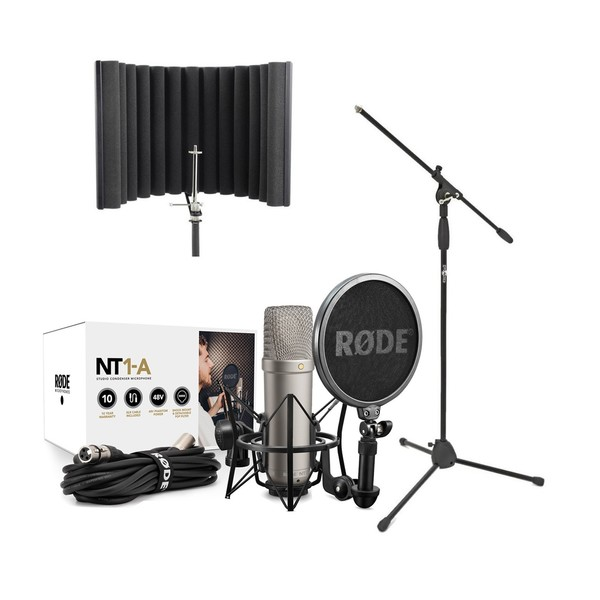 Rode NT1-A Vocal Recording Pack With sE RF-X Reflexion Filter, Stand - Main