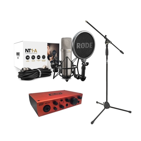 Rode NT1-A Vocal Recording Pack With ESI U22XT Interface, Mic Stand - main