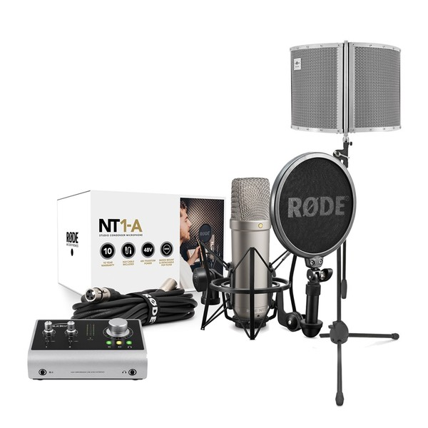 Rode NT1-A Vocal Recording Pack, Audient iD14, Filter And Mic Stand - Main
