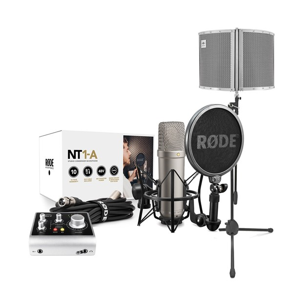 Rode NT1-A Vocal Recording Pack, Audient Interface, Filter & Stand - Main