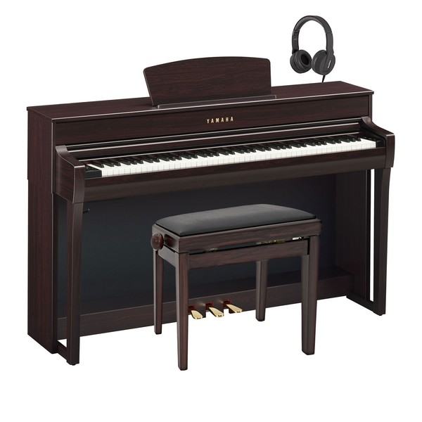 Yamaha CLP 735 Digital Piano Package, Rosewood
