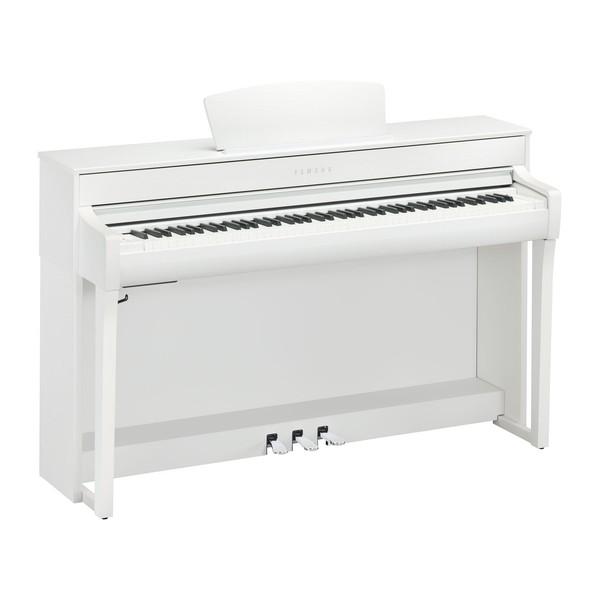Yamaha CLP 735 Digital Piano, Satin White