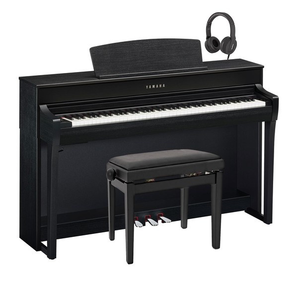 Yamaha CLP 745 Digital Piano Package, Satin Black