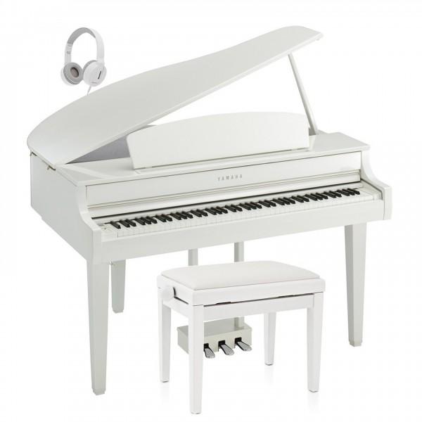 Yamaha CLP 765 Digital Grand Piano Package, Polished White
