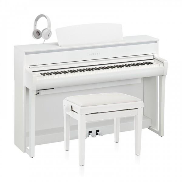 Yamaha CLP 775 Digital Piano Package, Satin White