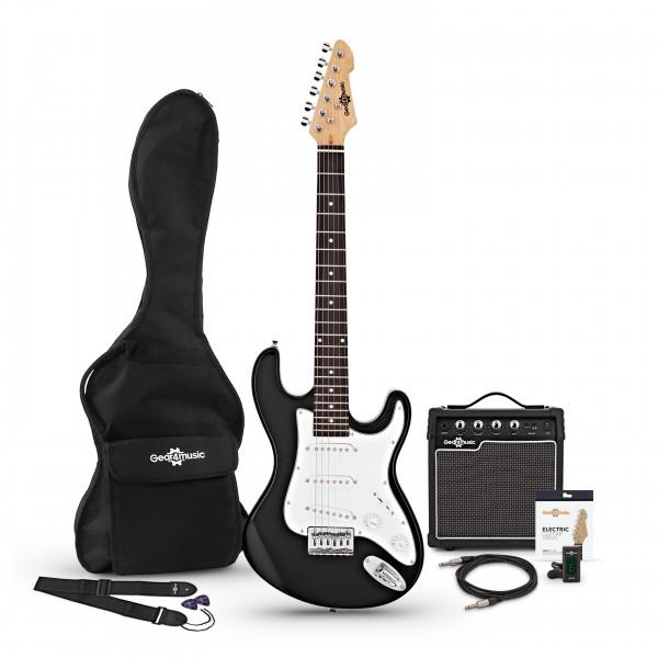 3/4 LA Electric Guitar + Amp Pack, Black main