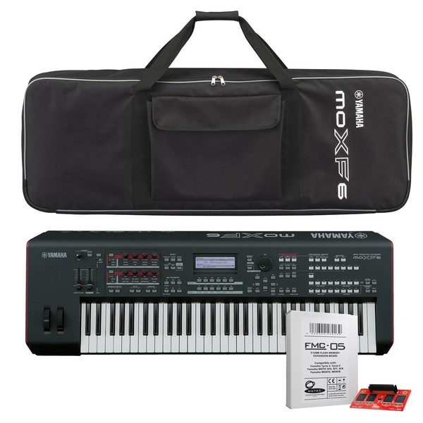 Yamaha MOXF6 Synthesizer with Bag and Expansion Card - Full Bundle