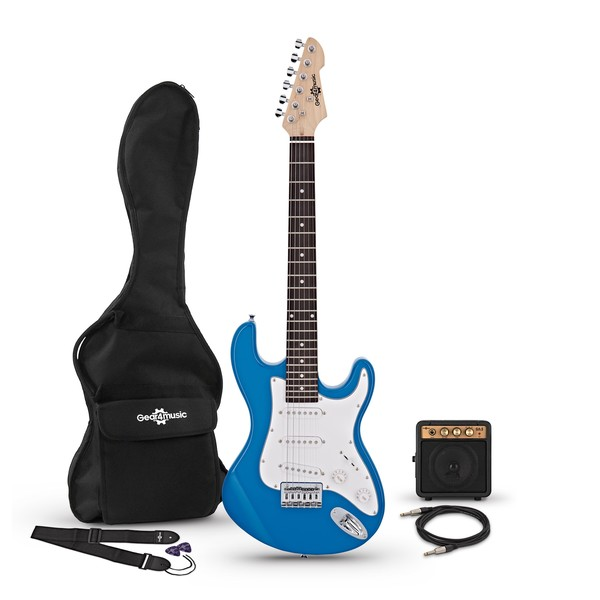 3/4 LA Electric Guitar + Miniamp, Blue