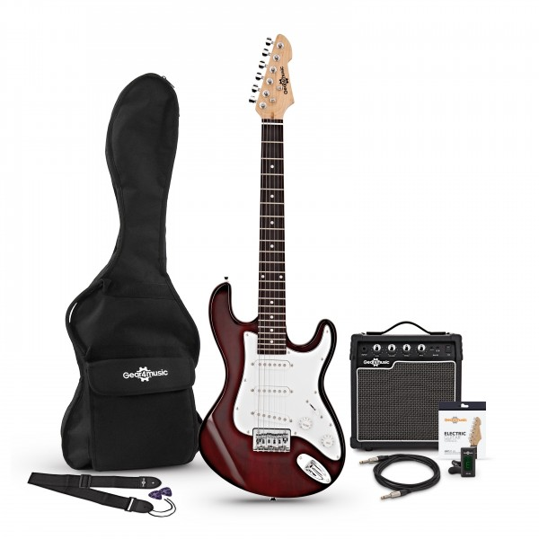 3/4 LA Electric Guitar + Amp Pack, Wine Red