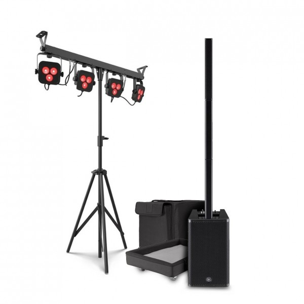 Yamaha Stagepas 1K Column PA System with Chauvet 4BAR LTBT
