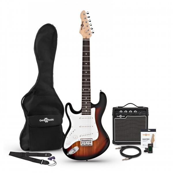 3/4 LA Left Handed Electric Guitar + Amp Pack, Sunburst