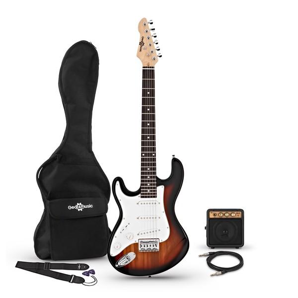 3/4 LA Left Handed Electric Guitar + Miniamp, Sunburst