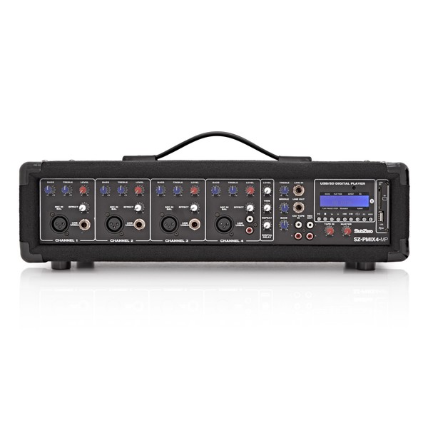 SubZero SZ-PMIX4-MP3 4 Channel Powered Mixer, Digital Media Player