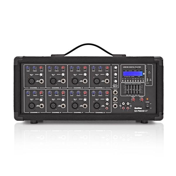 SubZero SZ-PMIX8-MP3 8 Channel Powered Mixer, Digital Media Player