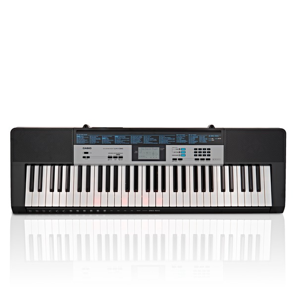 Casio LK 136 Portable Keylighting Keyboard, Black