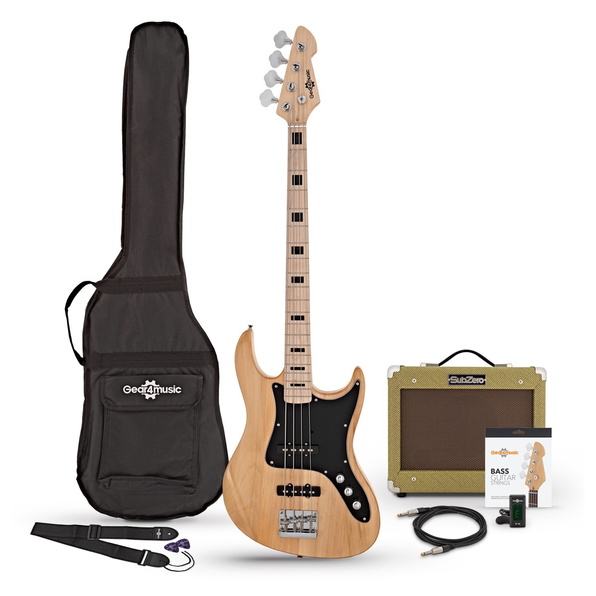 Click to view product details and reviews for La Ii Bass Guitar Subzero V15b Amp Pack Natural.