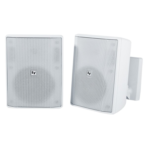 Electro-Voice EVID S5.2 Installation Speakers, White, Pair, Front