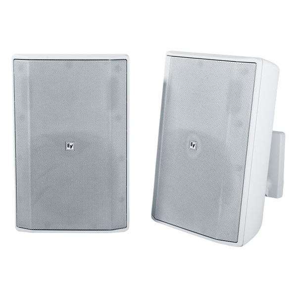Electro-Voice EVID S8.2 Installation Speakers, White, Pair, Front