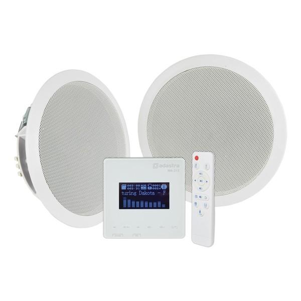 Adastra WA-215 In-Wall Amplifier & Ceiling Speaker Set, Full Package Front