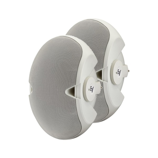 Electro-Voice EVID 3.2 Installation Speakers, White, Pair, Front Angled Left
