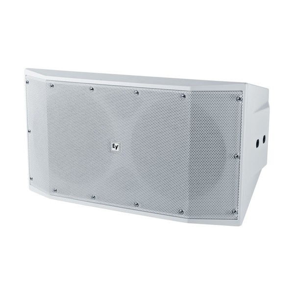 Electro-Voice EVID S10.1 Installation Subwoofer, White, Front Angled Left