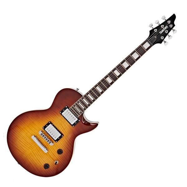 SubZero Revolution Electric Guitar, Flamed Tobacco
