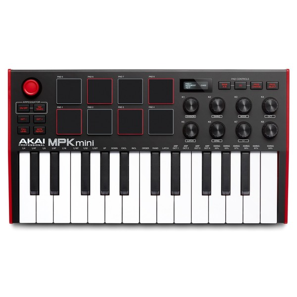 Akai Professional MPK Mini MK3 Laptop Production Keyboard - Top