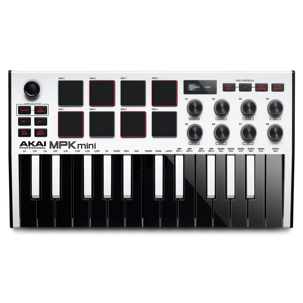 Click to view product details and reviews for Akai Professional Mpk Mini Mk3 Laptop Production Keyboard White.